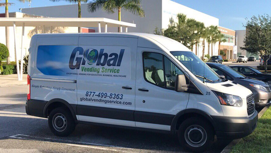 Global Vending Service Van