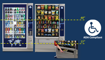 ADA Compliant Snack Vending Machine Florida